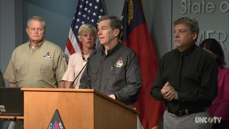 NC Emergency Management and Weather: NC Gov. Cooper: Weather Briefing 4:05 PM 09/06/19