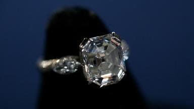 Appraisal: Asscher-cut Diamond Ring, ca. 1915