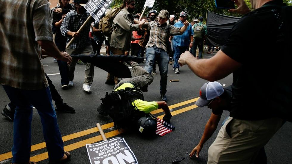 White nationalist rally brings clashes in Charlottesville image