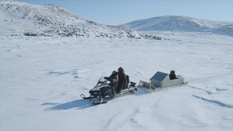 Collecting Mussels Under the Canadian Arctic Sea Ice