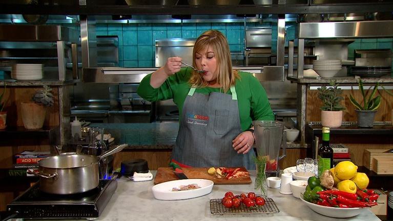 Dishalicious: Sarah's Bite   Shrimp cocktail with tomato aguachile