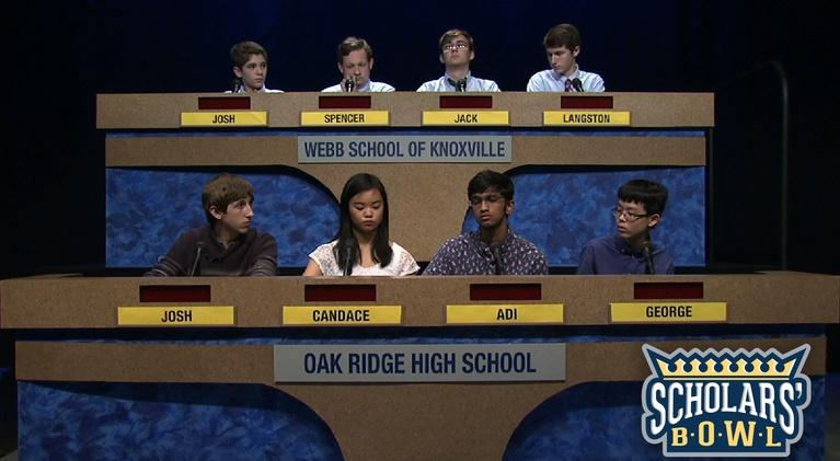 East Tennessee PBS Scholars' Bowl: Oak Ridge vs Webb