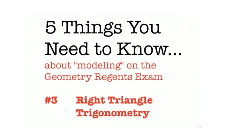 Regents Review: CC Geometry Right Triangle Trigonometry