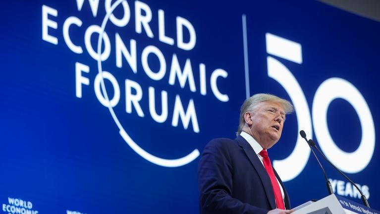 PBS NewsHour: In Davos, Trump hails U.S. 'economic boom,' downplays trial