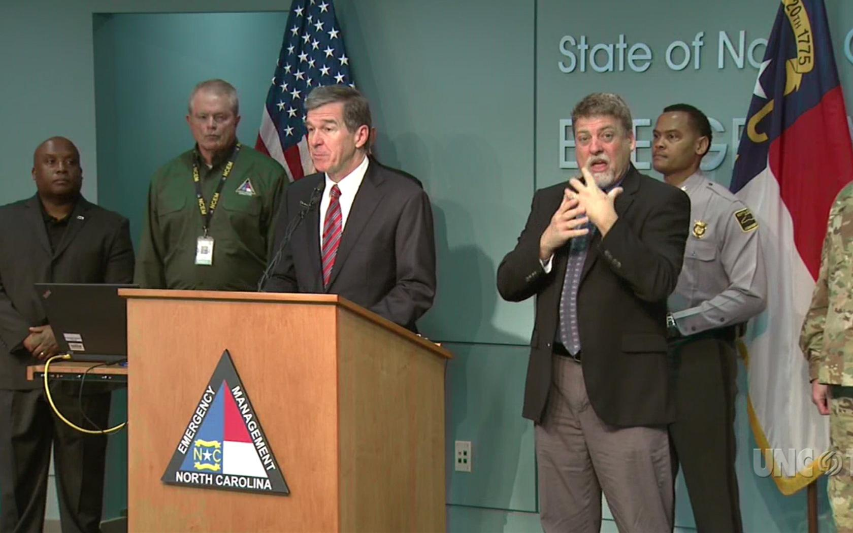 NC Gov. R. Cooper: Snow Briefing: 10:30 AM 12/07/