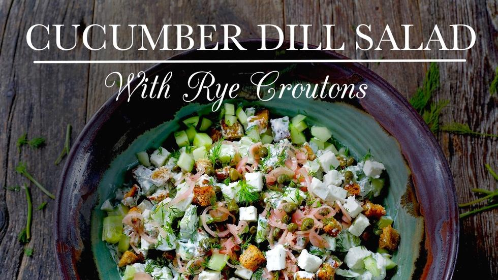 Cucumber Dill Salad image