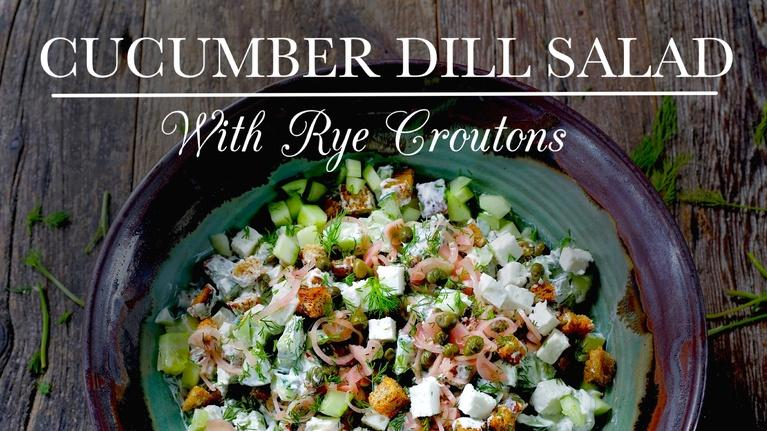 Kitchen Vignettes: Cucumber Dill Salad