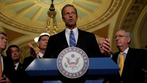 PBS NewsHour -- Thune: Health bill negotiation difficult but necessary
