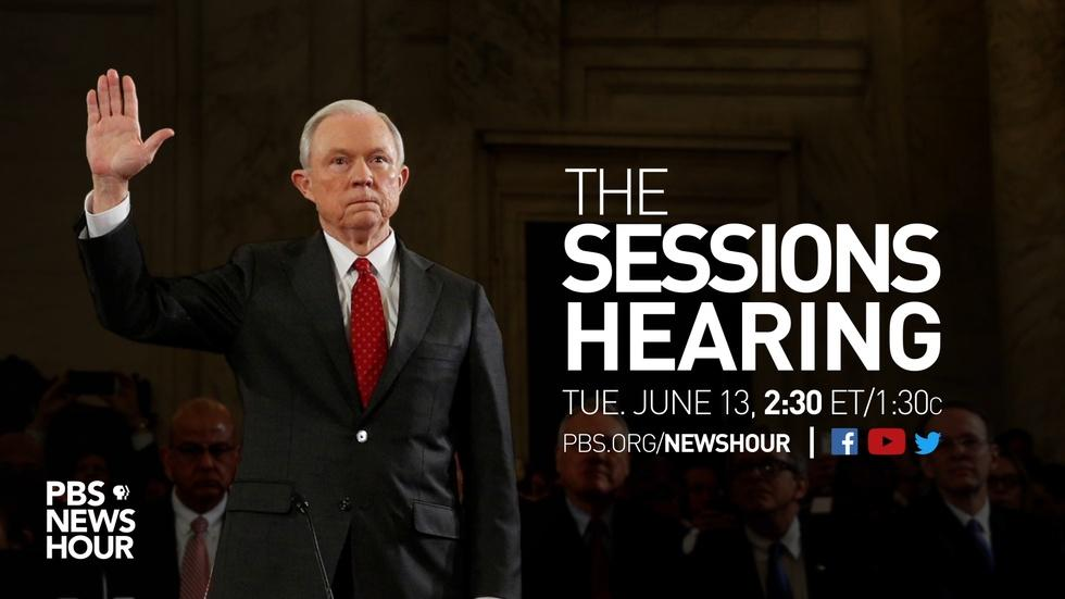PBS NewsHour Jeff Sessions Hearing Special image