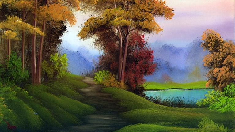 The Best of the Joy of Painting with Bob Ross: Autumn Distinction