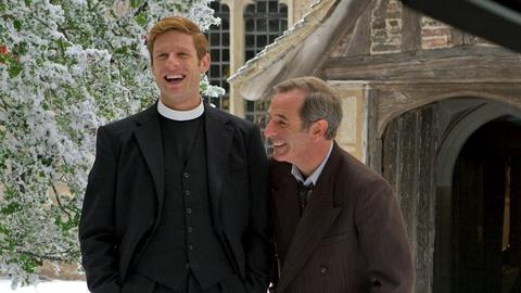 Grantchester -- Fun on Set