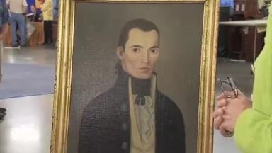 Appraisal: John Brewster Jr. Folk Art Portrait, ca. 1790