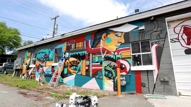 Charlottesville Inside-Out: Charlottesville Mural Project / Veterans History (#1208)