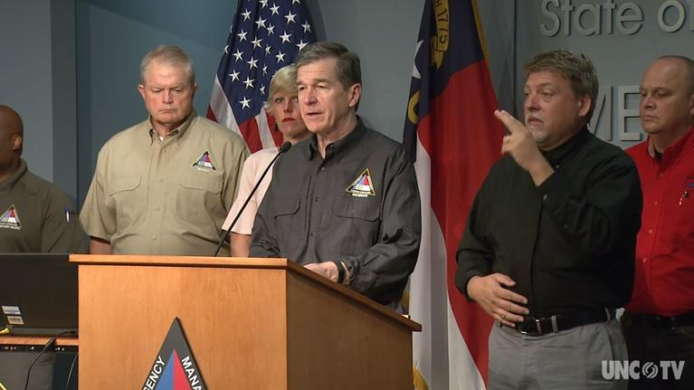 NC Emergency Management and Weather: NC Gov. Cooper: Weather Briefing 10:05 AM 09/06/19
