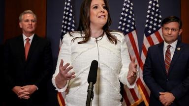 News Wrap: House GOP votes Elise Stefanik into No. 3 post