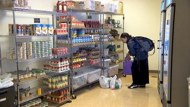 Pop-up pantries address college students' food insecurity
