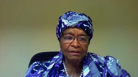 Former Liberian President Talks Global United Effort