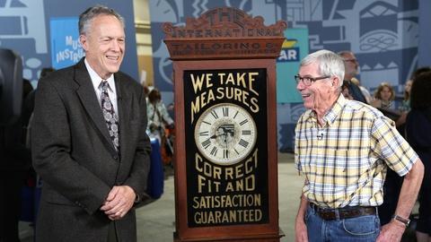 Antiques Roadshow -- Appraisal: New Haven Clock Co. Advertising Clock, ca. 1900
