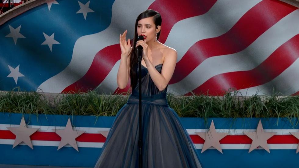 Sofia Carson Performs the National Anthem image