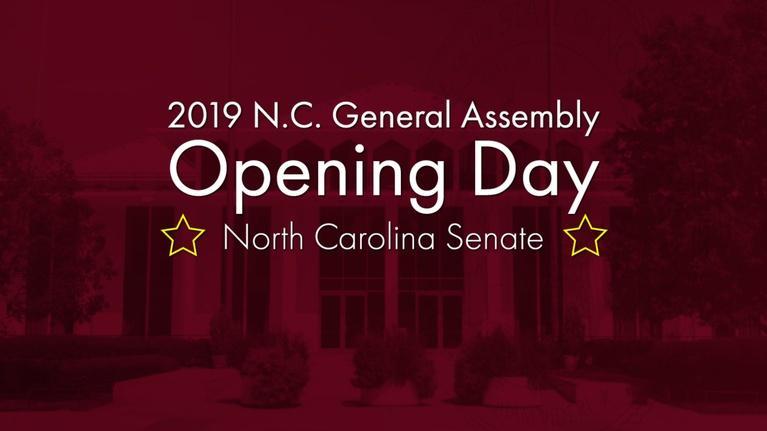 NC Channel: 2019 N.C. GA Opening Day: NC Senate