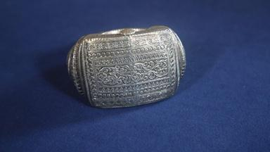 Appraisal: Late 19th-Century Omani Silver Anklet