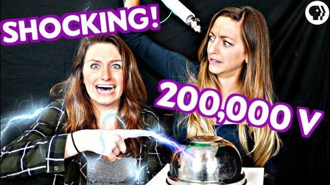 Physics Girl -- DIY Lightning Experiment! Make a SHOCKING Capacitor
