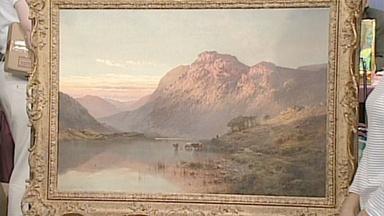 Appraisal: Alfred de Bréanski Sr. Painting, ca. 1900
