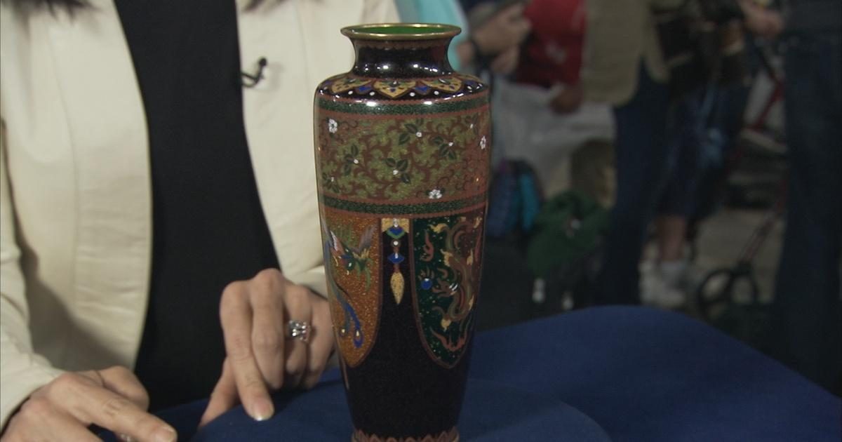 Appraisal Japanese Cloisonn Enamel Vase Ca 1875 Antiques
