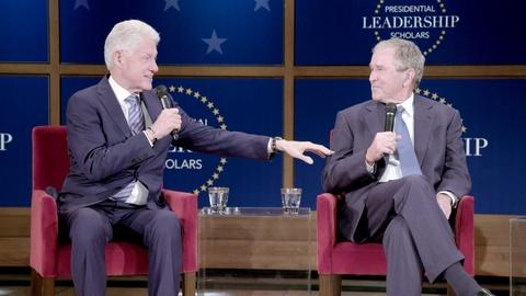 Former Presidents Bill Clinton & George W. Bush