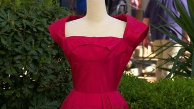 Appraisal: James Galanos Silk Dress, ca. 1950