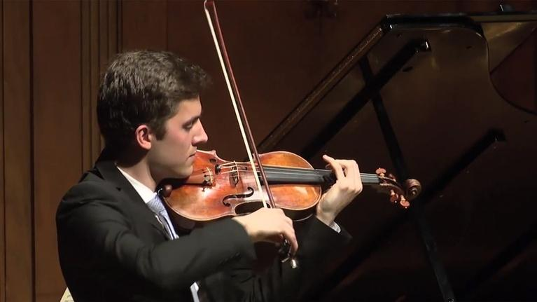 On Stage at Curtis: Violinist Stephen Tavani