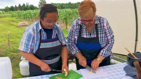 Lidia Celebrates America -- Pork and Mustard Greens with Wisconsin's Hmong Community