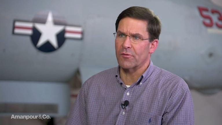 Amanpour and Company: Mark Esper Discusses What the US Owes Its Allies