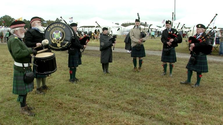 Charlottesville Inside-Out: Albemarle Pipes & Drums; James Madison's Montpelier (#1209)