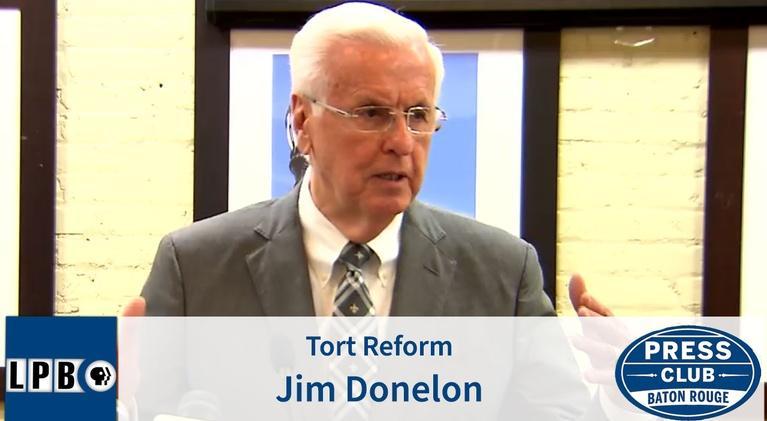 Press Club: Tort Reform | Jim Donelon | 02/17/20 | Press Club