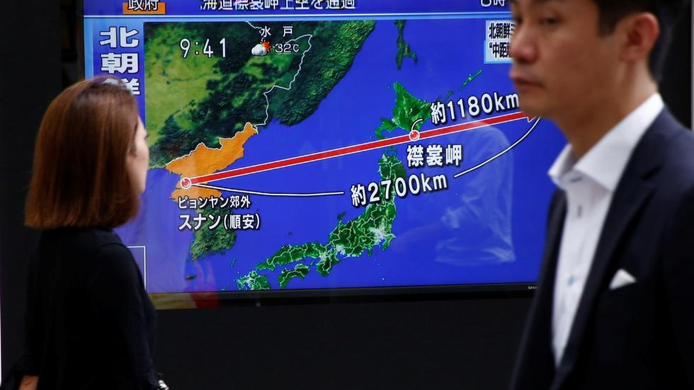 North Korea missile launch over Japan shakes U.S. allies image