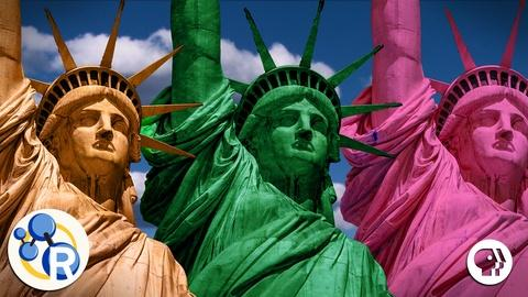 Reactions -- Why is the Statue of Liberty Green?