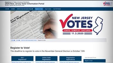 Last day to register to vote in NJ is Tuesday, Oct. 13
