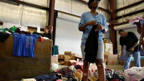 PBS NewsHour -- How Harvey evacuees are coping in shelters