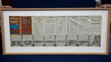 Appraisal: 1876 Railroad Timetable & Map