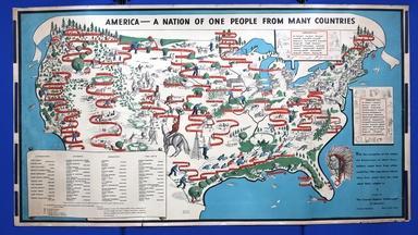 Appraisal: 1940 Emma Bourne Pictorial Map