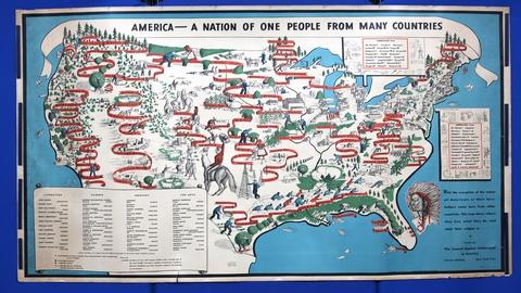 Appraisal: 1940 Emma Bourne Pictorial Map