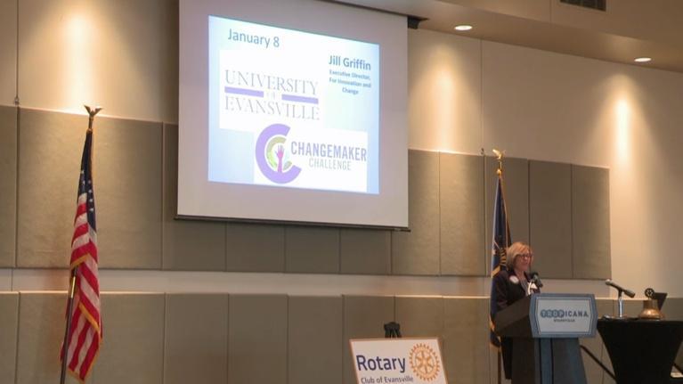 Evansville Rotary Club: Regional Voices: Jill Griffin, UE Changemakers Challenge