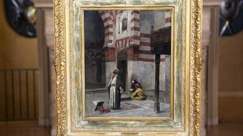 "Antiques Roadshow -- Appraisal: Charles Wilda ""The Hour of Prayer"" Oil, ca. 1885"