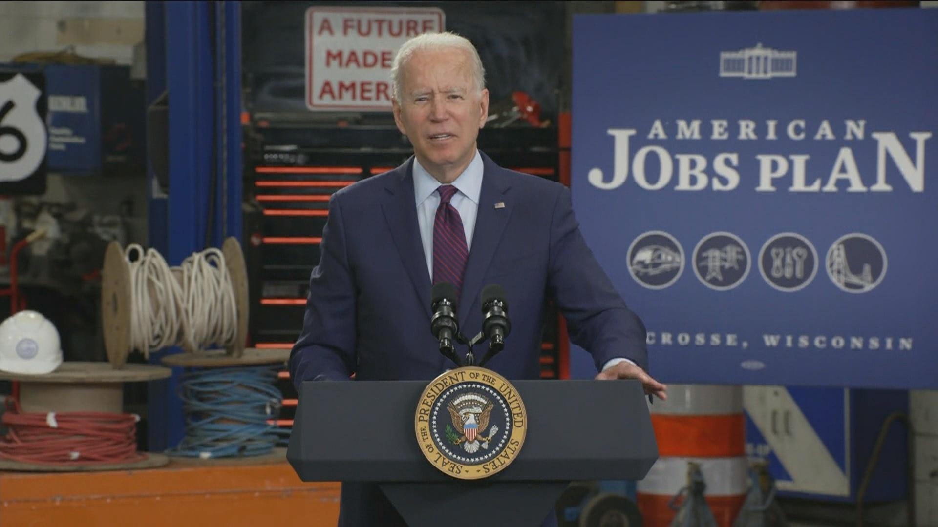 Biden Touts Infrastructure in La Crosse