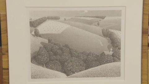 """Antiques Roadshow -- Appraisal: 1938 Grant Wood """"July 15th"""" Lithograph"""