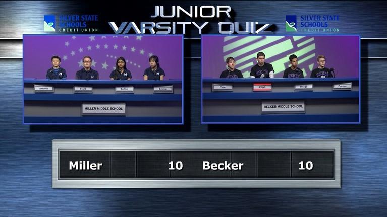 Varsity Quiz from Vegas PBS: Jr. Varsity Quiz Final Match