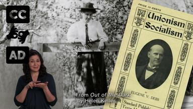 Helen Keller studied socialism [Audio Description]