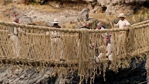 Native America -- Weaving Grass Bridges