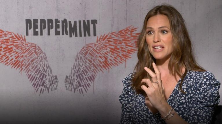"Flicks: Jennifer Garner for ""Peppermint"""